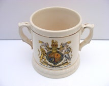 Celebration porcelain cup from Queen's coronation 1953