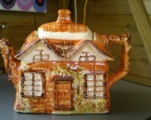 "Vintage Price Bros. cottage ware ""Ye Old Cottage"" tea pot From Great Britian!"