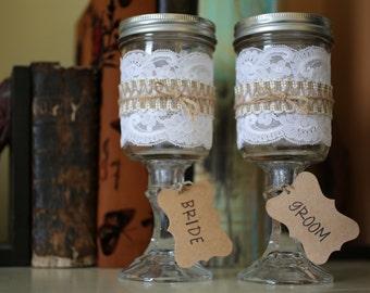 Jelly Jar Wine Glasses