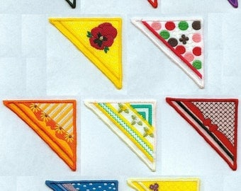 Fancy Corner Bookmarks - ITH - Machine Embroidery - 4x4 hoop