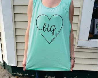 Big Script Heart Comfort Colors Tank Top