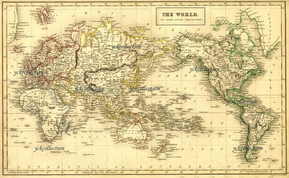 Antique World Map X To X Vintage Map In - Map of egypt high resolution