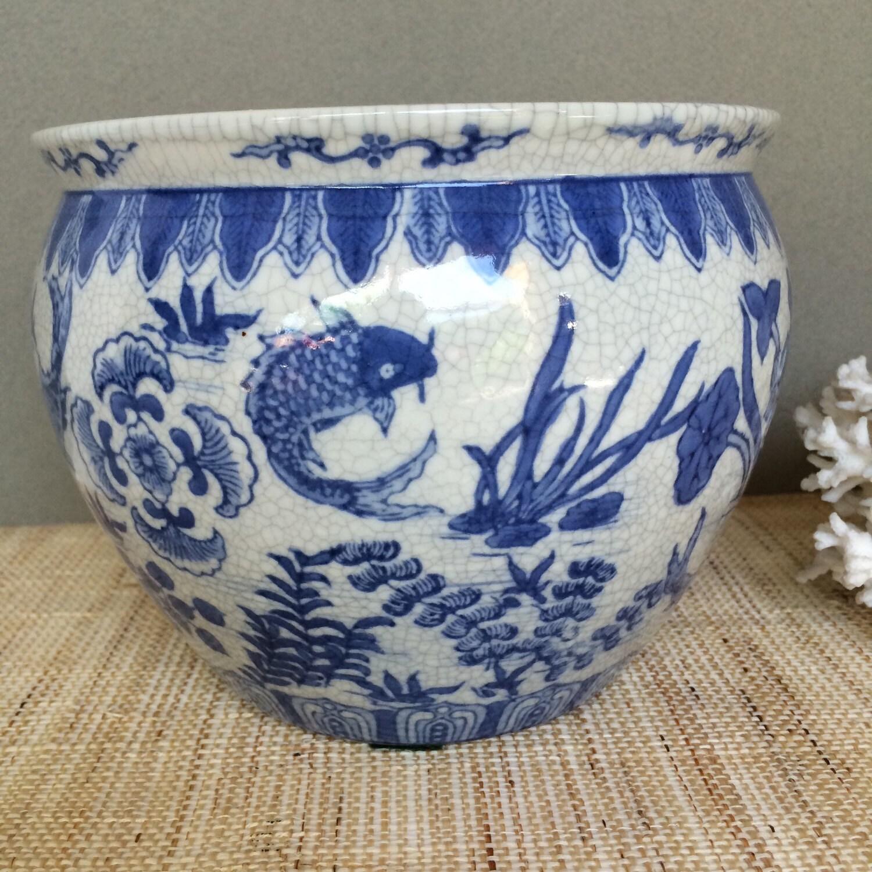 Vintage chinese fish bowl vintage fishbowl vintage for Chinese fish bowl