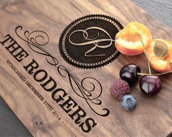 Personalized Cutting Board, Custom Wedding Gift, Anniversary Gift, Wood Cutting Board, Housewarming Gift, Engraved Block, Kitchen Houseware