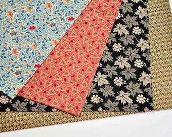 Fabric destash  collection 4 Fat Quarters Civil War reproduction fabrics 1800 jubilee  Hard to find