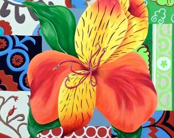 "30x24 Artist Signed Print...""Jamie's Orange Lily"""