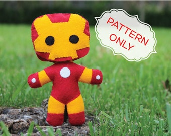 PATTERN: Iron Man Tony Stark Doll