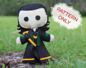 PATTERN: Loki Felt Doll