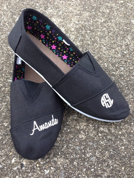monogrammed slide on tennis shoes personalized