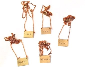 Spice Girls Name Plate Necklaces