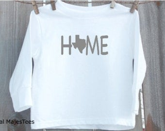 Kids Texas Home Shirt, Long Sleeve