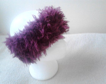 ladies  fur headband, knitted fur headband, knitted headband, ladies fur headband
