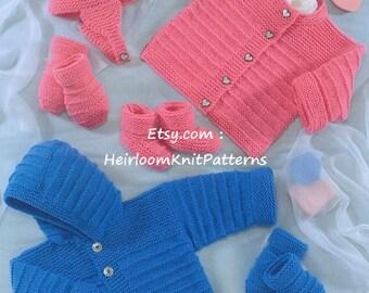 a7cb3418954f Baby Cardigan and Sweater Knitting Pattern UKHKA 53