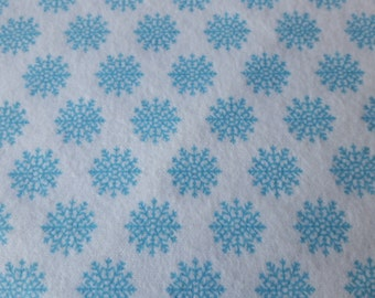 Snowflake Flannel Fabric 100% Cotton Flannel Frozen Fabric Snow Fabric