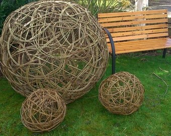 Extra large willow woven sphere ball.