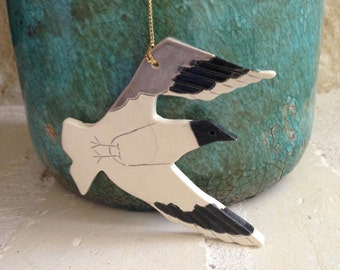 Seagull  Ornament Seagull Christmas Ornament Handcrafted Ornament