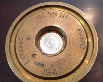 World War II Trench Art 40mm shell