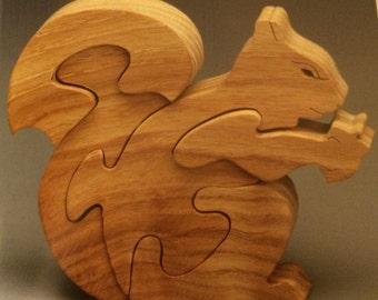 Squirrel Puzzle Oak