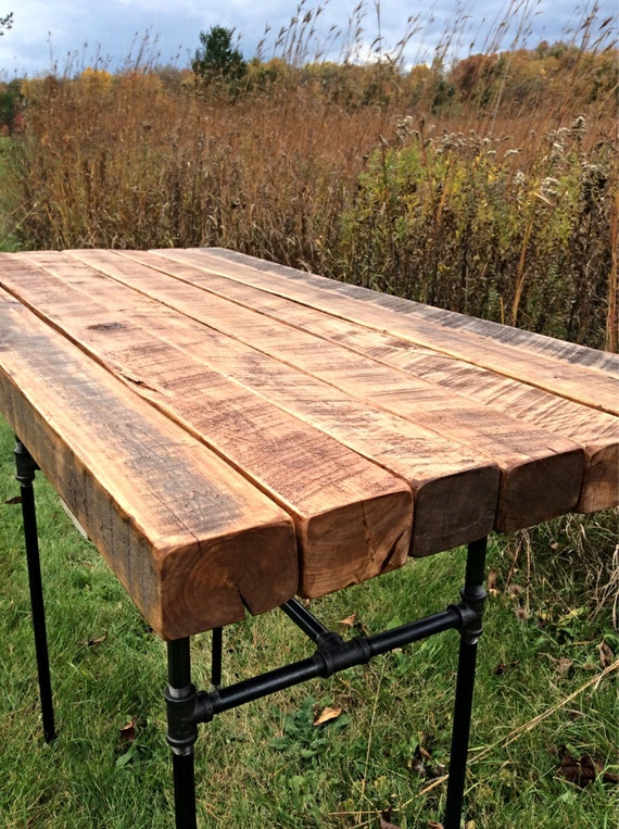 Outdoor The Butchers Choice Reclaimed Wood Bar Table Butcher Block