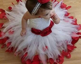 Beautiful Rose themed tutu,flower girl, wedding, holiday, Valentine's Day