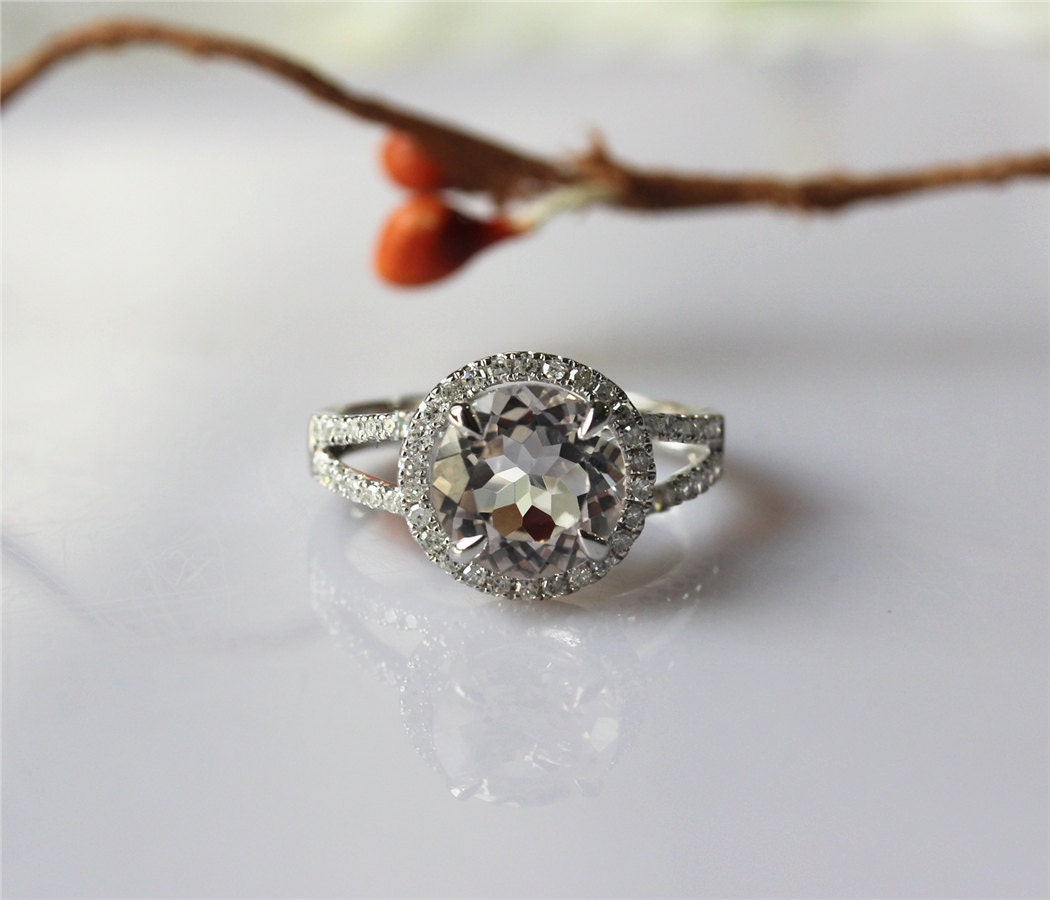 2 3ct morganite engagement ring halo by
