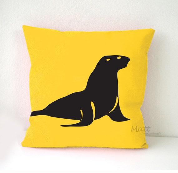 Ocean Animal Pillows : Sea animals themes Pillow Cover Sea lion pillow case Sea