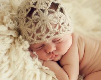 Daisy Mohair Newborn Knit Newborn Baby Bonnet