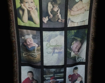 CUSTOM Photo Blanket.  Put your children, pets or any picture on this unique throw blanket