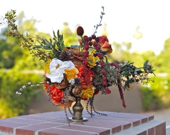 Flower Arrangement, Centerpiece, Home Decor, Table Arrangement, Artificial Flowers, Silk Flowers, Silk Flower Arrangement