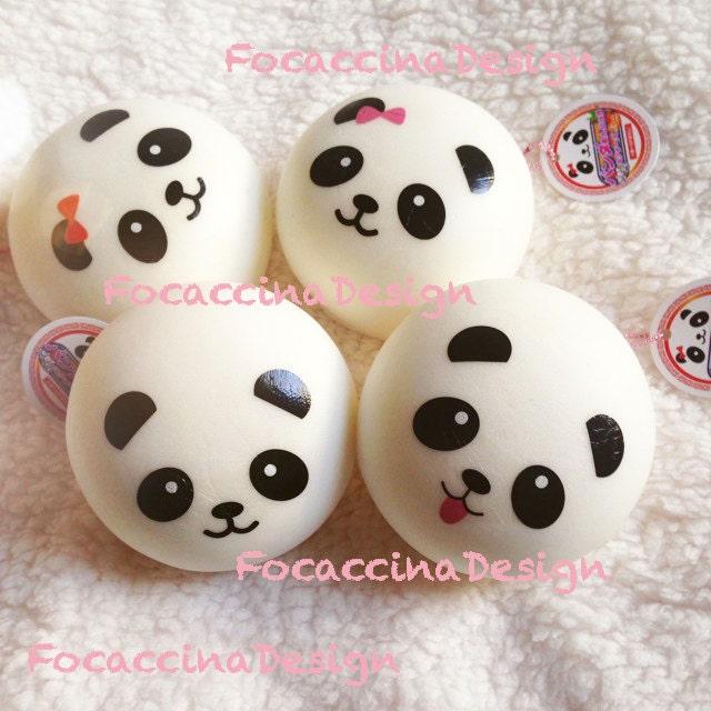 Super Squishy Panda Bun : 10 cm Kawaii squishy Jumbo Panda bun super soft