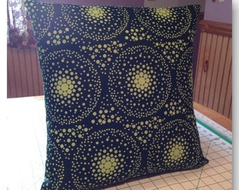 16X16 Handmade Black with Neon Green dots
