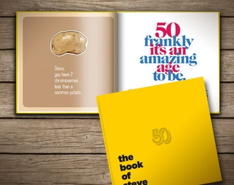 50th Birthday Personalized Gift Book of Everyone. Perfect for Him or Her