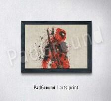 Deadpool art print, superhero, marvel, canvas print, personalized art