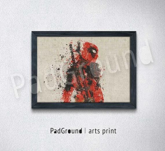 Deadpool Prints Superhero Prints Marvel Boys Home Decor