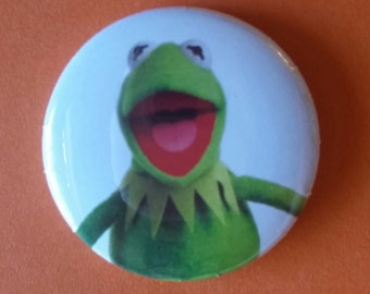 """KERMIT  The Muppet Show  1"""" pin back button"""