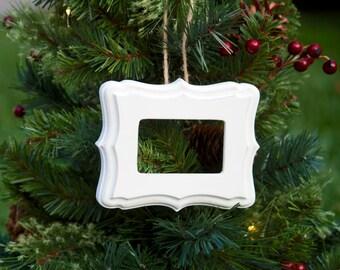 Ornament, Hand Painted, Light Vintage Finish, Shabby Chic, Christmas Ornament, Mini~Frame, Bathroom Decor, Sweet Frame, Linen~Color Finish