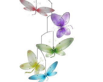 Dragonfly mobile Taylor - baby mobile, ceiling mobile, hanging dragonfly, crib mobile, baby room decor, nursery decor, nursery decoration