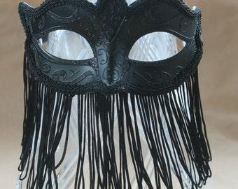 Stunning Ladies Belly Dancer Style Tassle Fringed Mask