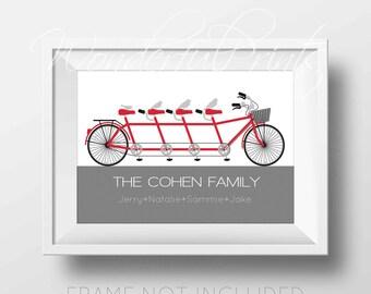 PRINTABLE 11x14 Custom Nursery Wall Art Family Name Print - Family Tree Print - Baby Nursery - Childrens Room - Typography Fun Gift COHEN