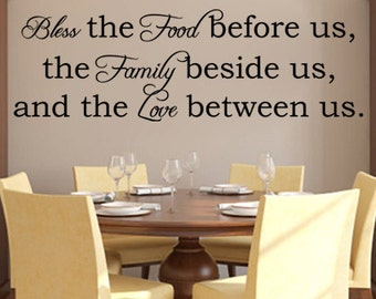 BLESS This FOOD BEFORE Us vinyl wall art sticker decal
