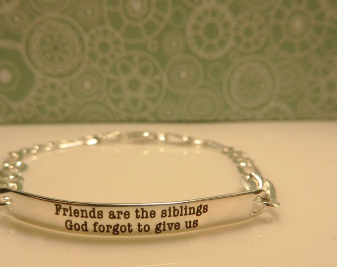 Women's Personalized Sterling Silver Bracelet, Custom and Beautiful, Unique, beautiful, delicate beacelet