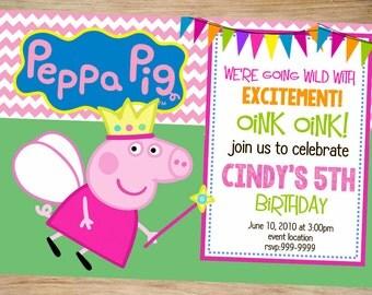 Peppa Pig Birthday Invitation - Peppa Pig Invitation - Peppa Pig - Printable Invitation - Digital