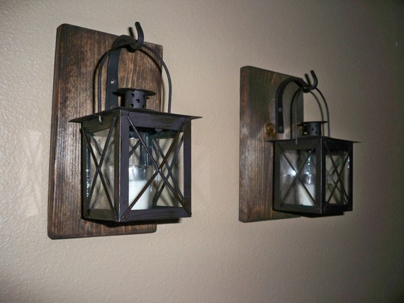 Decorative Wall Sconces For Bedroom : Rustic Bathroom Decor Rustic Home Decor wrought by LisaMarieDS