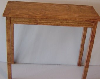 Small Oak or Maple Sofa Table
