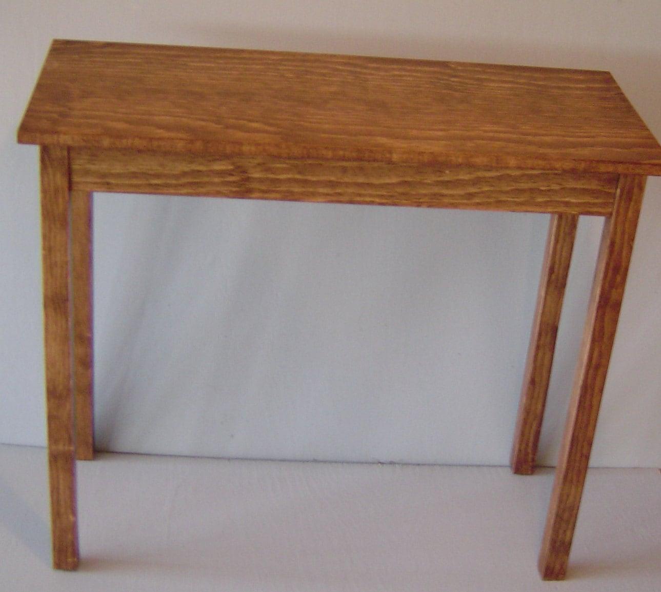 small oak or maple sofa table
