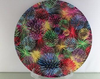 Decorative Fireworks Plate