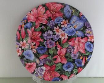 Decorative Floral Plate