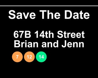 Subway Save The Date Digital Download