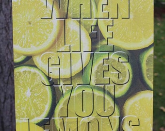 Life & Lemons Canvas Gallery Wrap