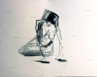 charcoal figure drawing No. 8